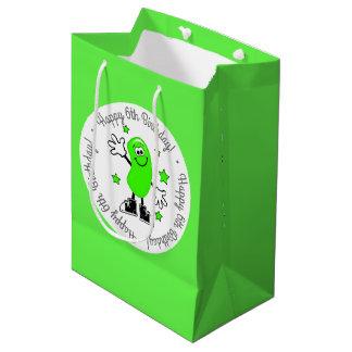 Sac Cadeau Moyen Anniversaire personnalisé vert de dragée à la