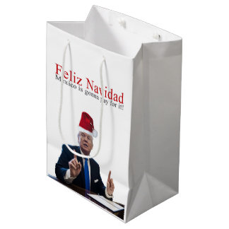 Sac Cadeau Moyen Atout. Feliz Navidad, Mexique va payer lui !