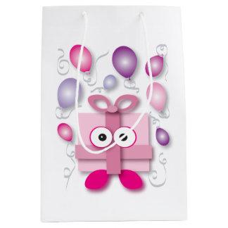 Sac Cadeau Moyen Bande dessinée rose de fête de boîte-cadeau - baby