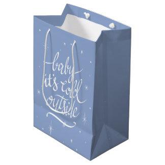 Sac Cadeau Moyen Bébé c'est extérieur froid dans le bleu de