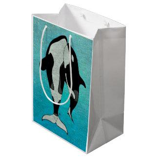 Sac Cadeau Moyen Bois de graveur de bleu d'orque
