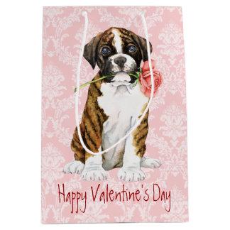 Sac Cadeau Moyen Boxeur rose de Valentine