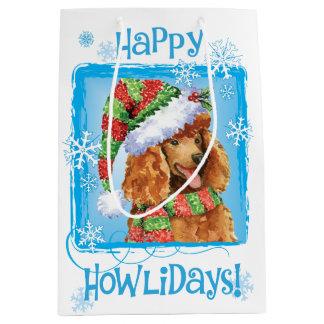 Sac Cadeau Moyen Caniche heureux de Howlidays
