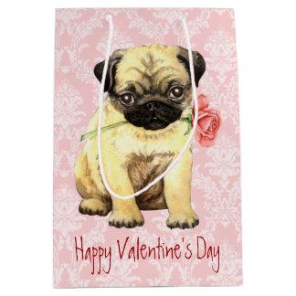 Sac Cadeau Moyen Carlin rose de Valentine