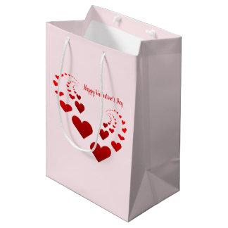 Sac Cadeau Moyen Coeurs de heureuse Sainte-Valentin
