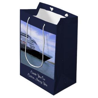 Sac Cadeau Moyen Coutume lisse d'arc de bateau de croisière