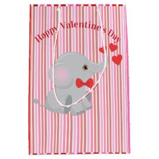 Sac Cadeau Moyen Éléphant mignon Valentine