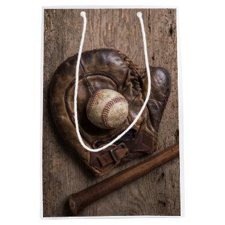 Sac Cadeau Moyen Équipement de base-ball vintage