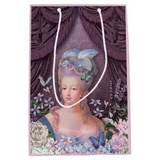 Sac Cadeau Moyen Floral pourpre de Marie Antoinette