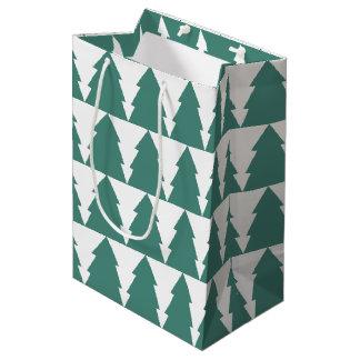 Sac Cadeau Moyen Forêt d'arbre de Noël