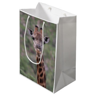 Sac Cadeau Moyen Headshot de girafe