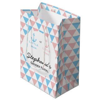 Sac Cadeau Moyen Le genre bleu et rose de triangles indiquent