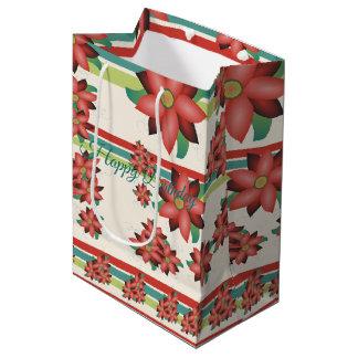 Sac Cadeau Moyen Le milieu a fleuri le Cadeau-sac d'anniversaire