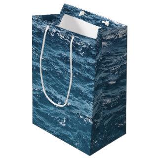 Sac Cadeau Moyen L'eau bleue nautique d'océan