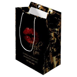 Sac Cadeau Moyen Lèvre de parties scintillantes de cannelle et