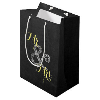 Sac Cadeau Moyen M. et Mme Party Gift Bag de mariage d'automne de