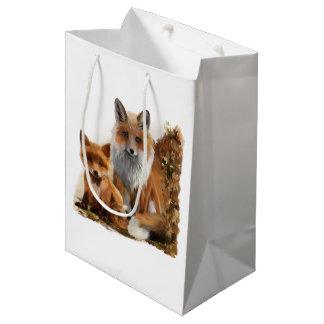 Sac Cadeau Moyen Maman et petit animal de Fox