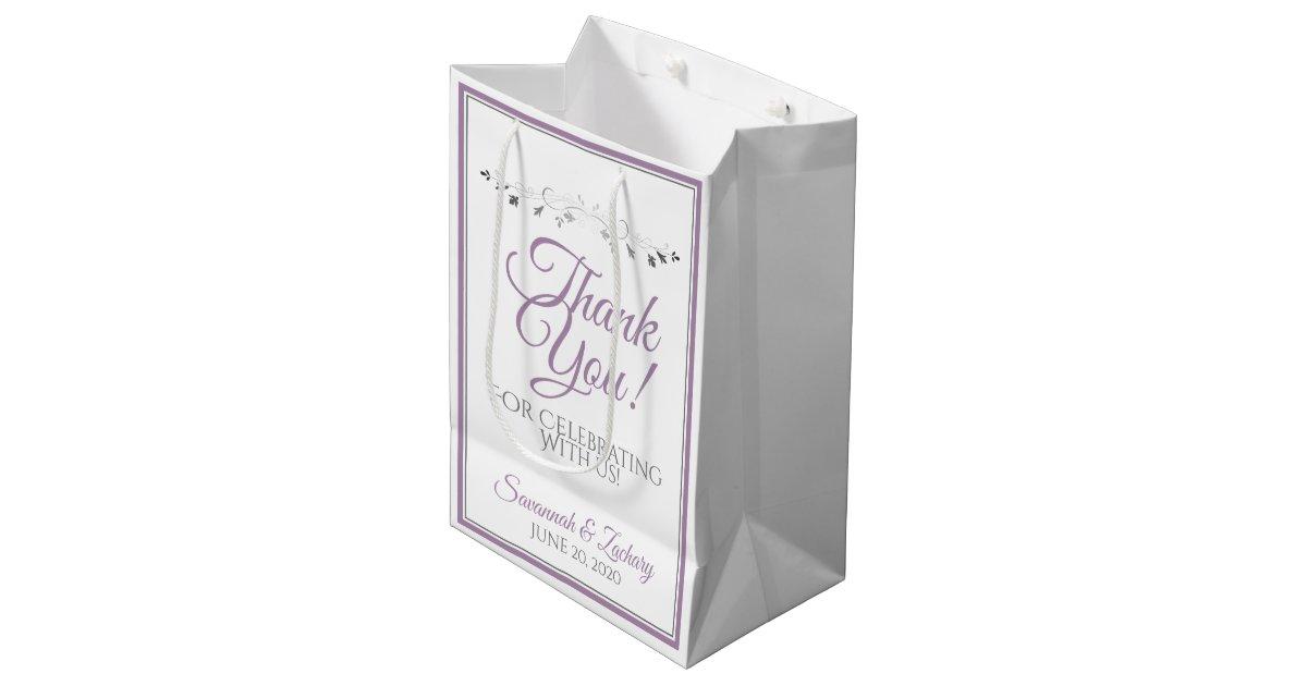Sacs Cadeau De Mariage En Papier Kraft De Taille Moyenne En Mariage Pour 12