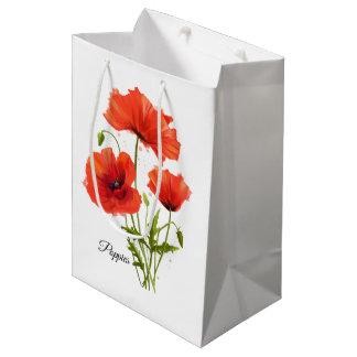 Sac Cadeau Moyen Mes pavots de fleurs