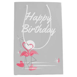 Sac Cadeau Moyen Milieu de joyeux anniversaire de côté d'amour de