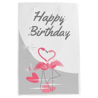 Sac Cadeau Moyen Milieu de joyeux anniversaire de lune d'amour de