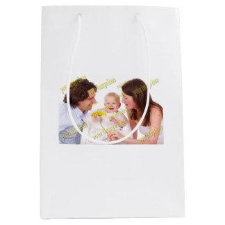 Sac Cadeau Moyen Modèle photo spécial de famille de budget