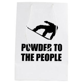 Sac Cadeau Moyen Neige de poudre au ski de personnes