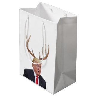 Sac Cadeau Moyen Noël d'atout : Monsieur le Président cerfs communs