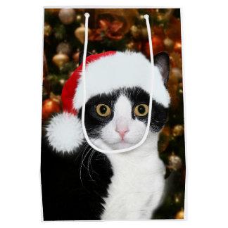 Sac Cadeau Moyen Noël de chat de smoking