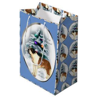 Sac Cadeau Moyen Noël de St Bernard