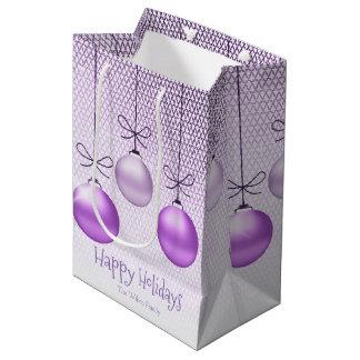 Sac Cadeau Moyen Noël ornemente ID251 pourpre
