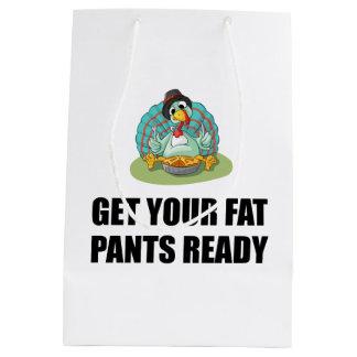 Sac Cadeau Moyen Obtenez à votre gros pantalon le thanksgiving prêt