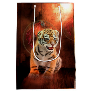 Sac Cadeau Moyen Petit bébé mignon de tigre