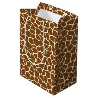 Sac Cadeau Moyen Poster de animal sauvage de motif de girafe