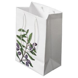 Sac Cadeau Moyen Pourpre vert de la branche | d'olivier