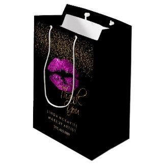 Sac Cadeau Moyen Rouge à lèvres rose pourpre de parties