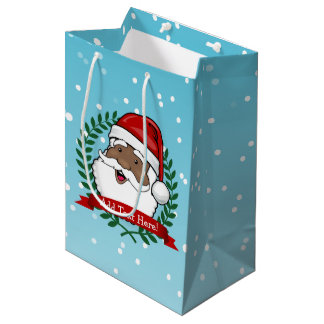 Sac Cadeau Moyen Texte fait sur commande ethnique gai de Père Noël
