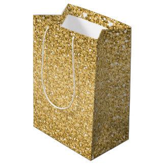 Sac Cadeau Moyen Texture simple de parties scintillantes d'or