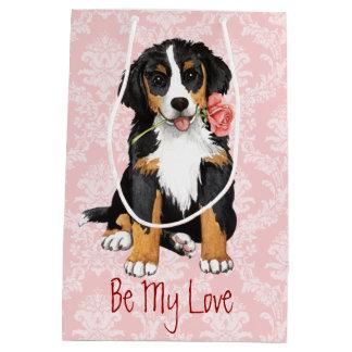 Sac Cadeau Moyen Valentine Berner rose