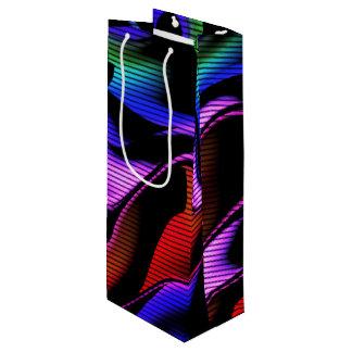 Sac Cadeau Pour Bouteille abstraction chaude avec les lignes 2