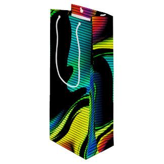 Sac Cadeau Pour Bouteille abstraction chaude avec les lignes 4