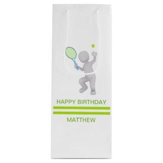 Sac Cadeau Pour Bouteille boule de raquette de tennis de joueur de tennis 3D