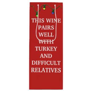 Sac Cadeau Pour Bouteille Ce vin appareille bien