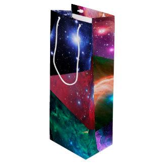 Sac Cadeau Pour Bouteille Collage d'astronomie
