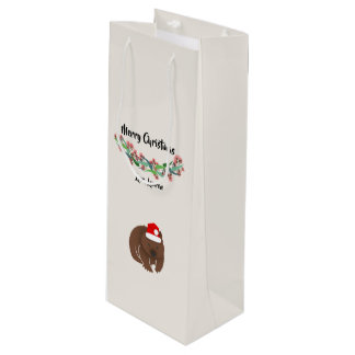Sac Cadeau Pour Bouteille Conception australienne d'animaux de Noël