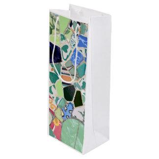 Sac Cadeau Pour Bouteille Mosaïques de Guell de parc
