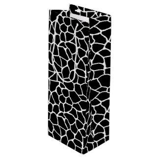 Sac Cadeau Pour Bouteille Motif animal d'impression noir et blanc de girafe
