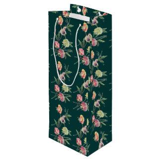 Sac Cadeau Pour Bouteille Pois doux de conception florale