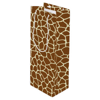Sac Cadeau Pour Bouteille Poster de animal sauvage de motif de girafe