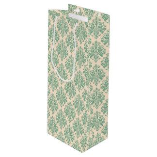 Sac Cadeau Pour Bouteille Rétro motif vintage élégant de damassé